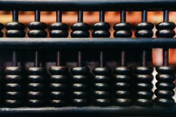 Chinese wooden abacus