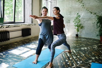 Yoga class for girl with special needs