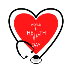 Vector illustration for Health day