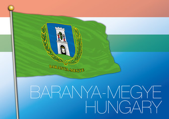 Baranya Megye flag of the province of Hungary
