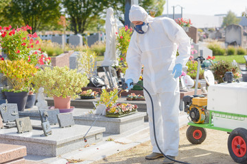 killing weeds in cemetery