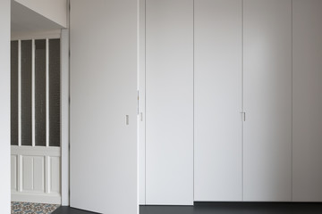 built-in closet and doors