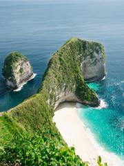 Beautiful tropical rock on beach