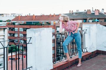 Portrait of a beautiful blonde woman