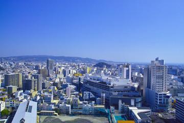 静岡市駿河区から見た日本平方面の遠望