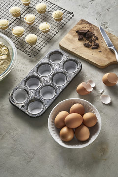Homemade Cupcake Baking in the Kitchen