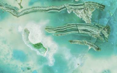 Gem silica, closeup