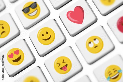 Smileys Emojis Emoticons Tastatur Tasten Stockfotos Und Lizenzfreie