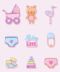 Baby love cartoons collection