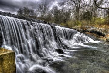 Memorial Lake Waterfall