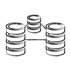 grunge data center network server technology