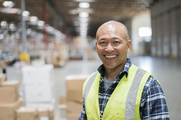 Warehouse worker portrait.