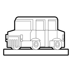 Pixelated limousine vehicle vector illustration graphic design