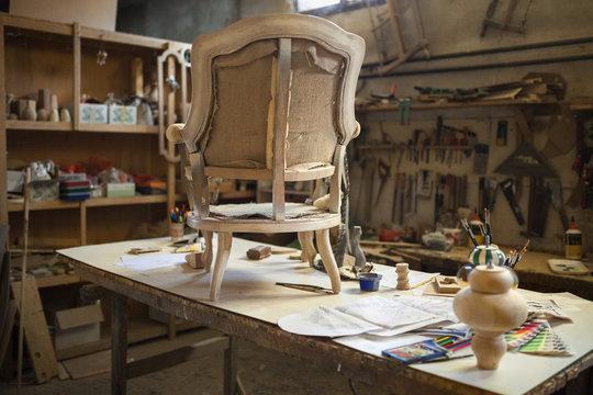 At the carpenter's workshop