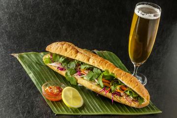 バインミー ベトナムサンドウィッチ  banh mi Vietnamese sandwich