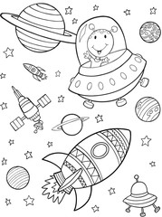 Outer Space Vector Illustration Art