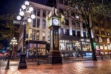 Steam Clock, Gastown- Vancouver, British Columbia, Canada.