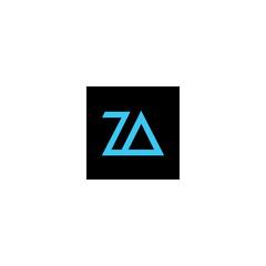 art of letter za logo vector