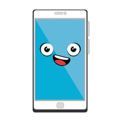 smartphone device kawaii character