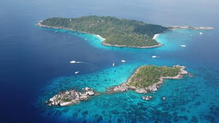 Aerial photo tropical island. Similan Islands, Thailand