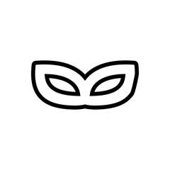 carnival mask outlined vecto icon.Simple, modern flat vector illustration for mobile app, website or desktop app