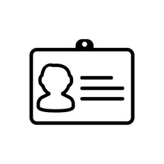 id card outlined vector icon