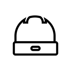 hat outlined vector icon