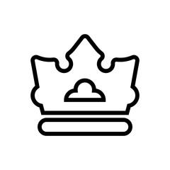 crown outlined vector icon