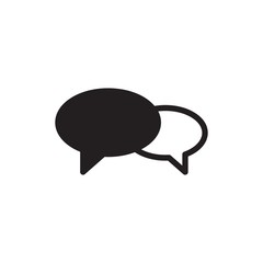 chat, dialogue filled vector icon. Modern simple isolated sign. Pixel perfect vector  illustration for logo, website, mobile app and other designs