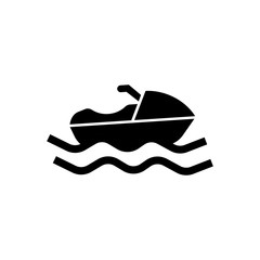 sailing boat filled vector icon