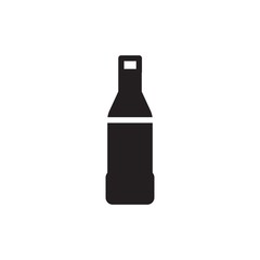 beverage bottle filled vector icon