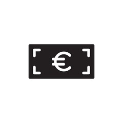 euro cash filled vector icon. Modern simple isolated sign. Pixel perfect vector  illustration for logo, website, mobile app and other designs