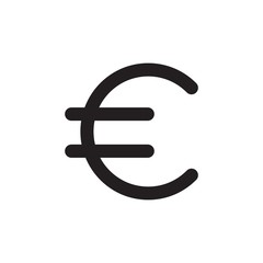 euro sign filled vector icon