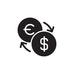 euro usd exchange filled vector icon. Modern simple isolated sign. Pixel perfect vector  illustration for logo, website, mobile app and other designs