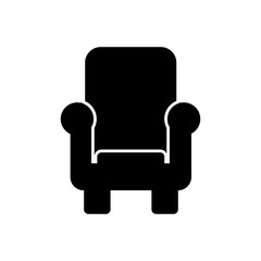 Armchair filled vector icon. Modern simple isolated sign. Pixel perfect vector  illustration for logo, website, mobile app and other designs