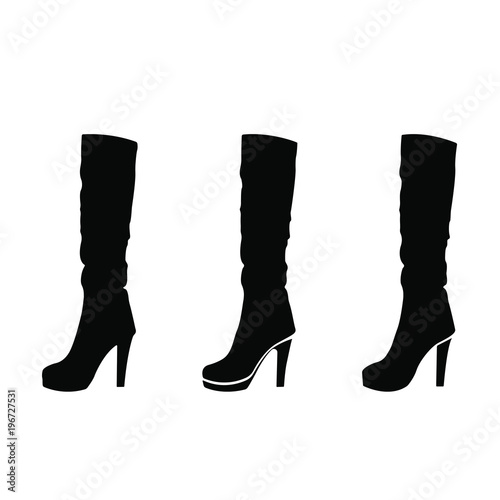 044becf399a6 Silhouette of woman shoes