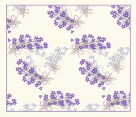vector floral pattern purple color..