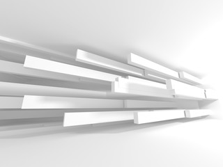Futuristic White Architecture Design Background