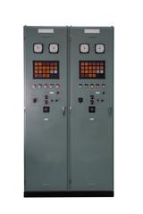Control panel cabinet isolated on whitebackground