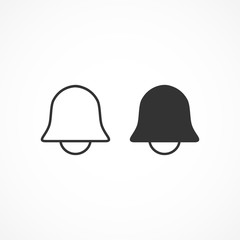 Vector image of a bell icon.