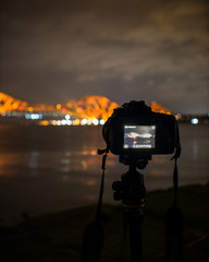A photo of me taking a photo of the Forth rail bridge