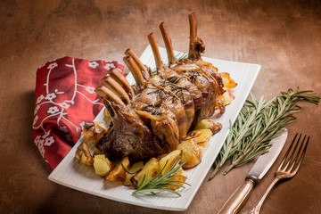 lamb chop with potatoes