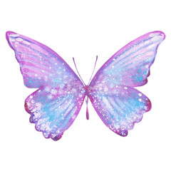 watercolor lilac butterfly