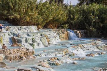 The mill waterfalls, Saturnia, Grosseto, Tuscany, Italy.