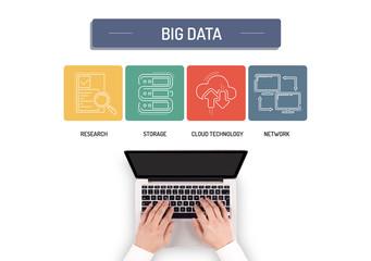 BUSINESSMAN WORKING ON BIG DATA CONCEPT