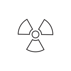 Radiation linear icon in a flat design in black color. Vector illustration eps10