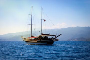 Sea walk on a boat