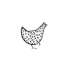 Hand drawn chicken