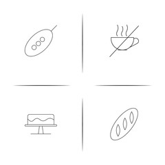 Food And Drink simple linear icon set.Simple outline icons