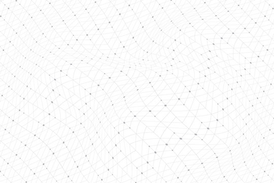 Geometric pattern with connected lines, dots, points, nodes. Graphics array background. Modern stylish polygonal backdrop communication compounds for your design. Lines plexus. Vector illustration.